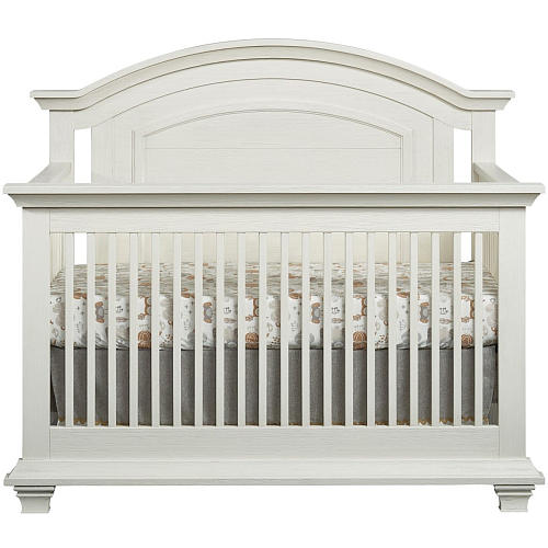 5 White Cribs For Girl Nursery - Oxford Baby Cottage Cove 4-in-1 Convertible Crib - Vintage White